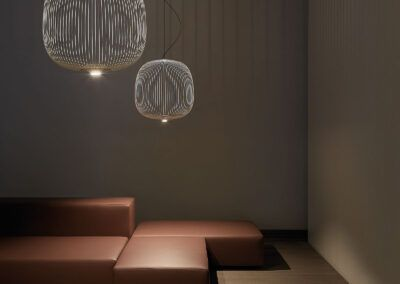 foscarini spokes lampara colgante led blanco