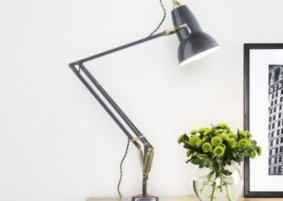 original brass george carwardine anglepoise luminaire lighting design signed product